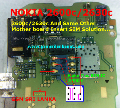 Nokia 2600c/2630c Insert SIM Solution