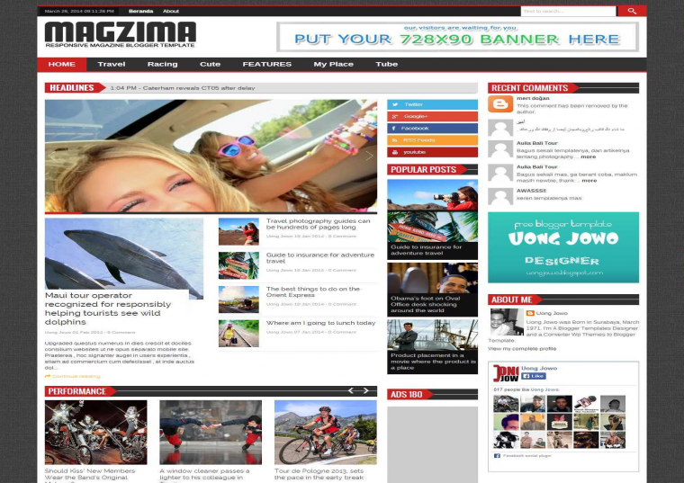 blogger templates free download 2012 - magzima responsive blogger template free download free
