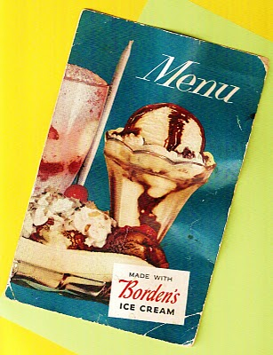 THE SHADY DELL MENU (1950s/60s)
