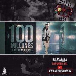 """Videoclip de """"Ruleta Rusa"""" de Kevin Roldán Alcanza Los 100 Millones De Reproducciones"""