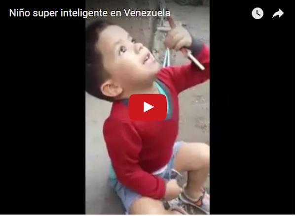 Niño de 3 años con super-inteligencia en Maracay