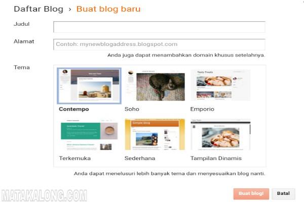 Cara Membuat Blog Yang Keren Dan Gratis