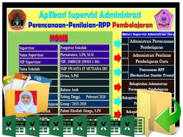 Aplikasi Supervisi Administrasi Perencanaan Penilaian Pembelajaran 2016-2017