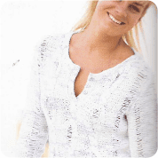 Delicada Blusa a Knitting o Dos Agujas