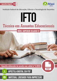 apostila Instituto Federal do Tocantins Técnico em Assuntos Educacionais