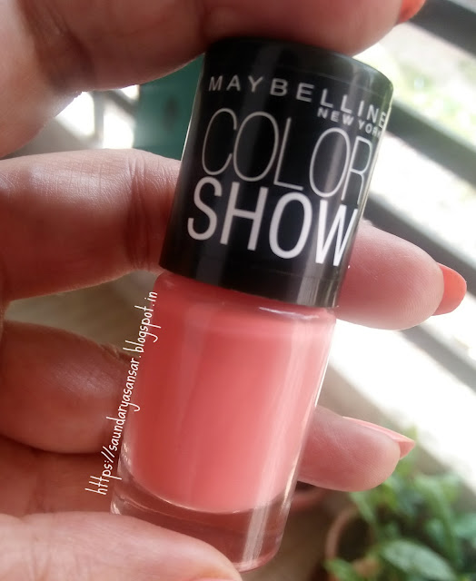 Maybelline Color Show nail enamel- Coral Craze Review