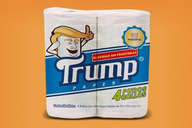 Vem aí o Papel Higiênico Donald Trump