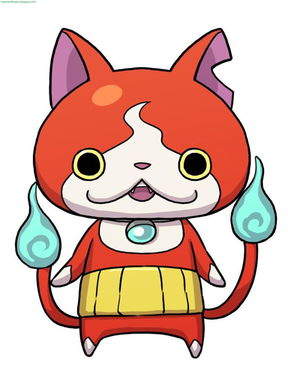 Imprimir Dibujos: Dibujos de personajes de Yo-Kai Watch para ...