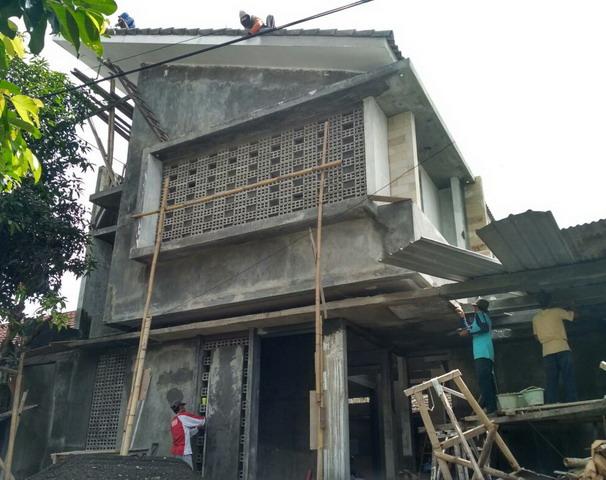 Pembangunan rumah minimalis 2 lantai oleh pemborong di jogja