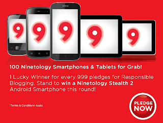 ninetology+2 - CONTEST - Pledge for Responsible blogging and stand a chance to win NINETOLOGY gadgets
