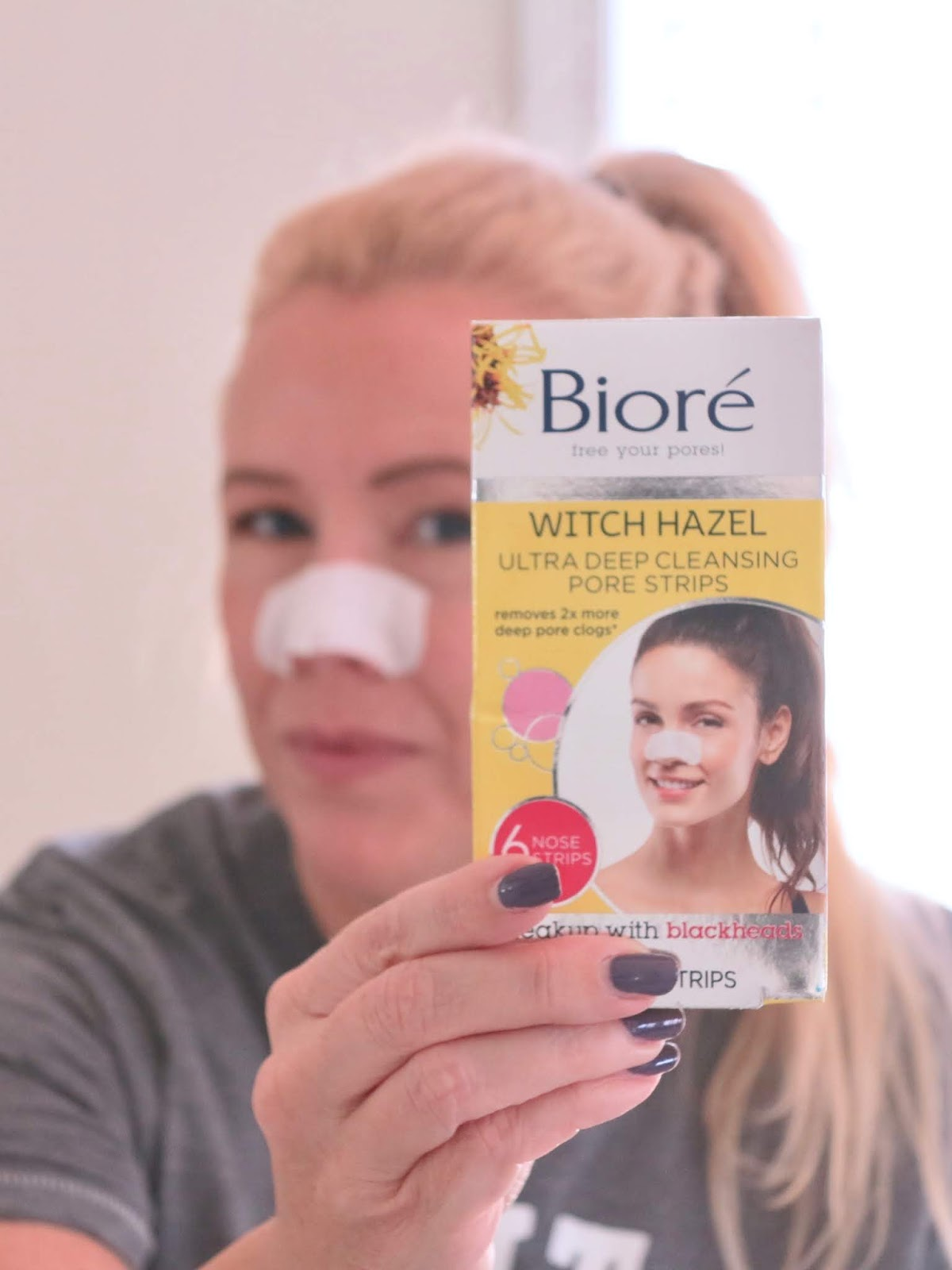 How to get rid of the strawberry nose! #BioreWitchHazel #ad