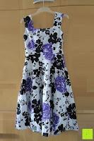 Rückseite: mixinni® Damen A-Linie Kurz Rockabilly Kleid 1950er Vintage Faltenrock Cocktail Partykleid Sommerkleid