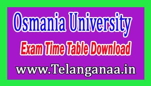 Osmania University OU LAW Exam Time Table January-2017