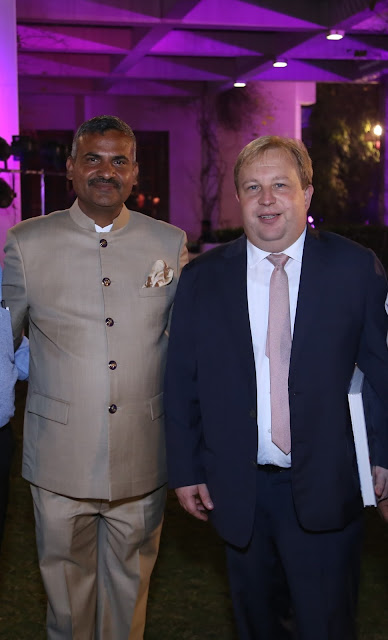 (L-R) Mr. Madan Mohan with The Chargé d´ Affaires a.i of the Austrian Embassy, Mr Georg Zehetner -min