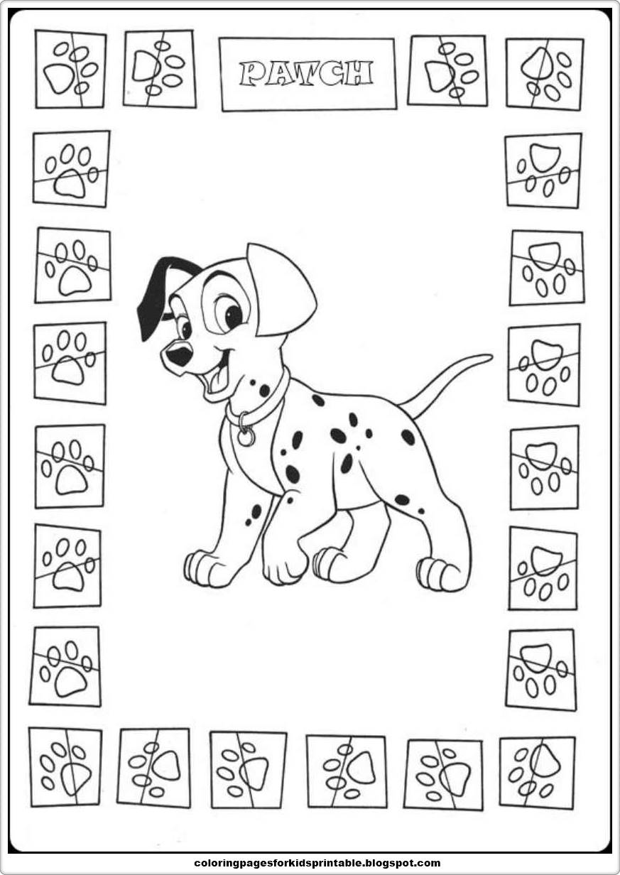 101 Dalmatians Coloring Pages Printable