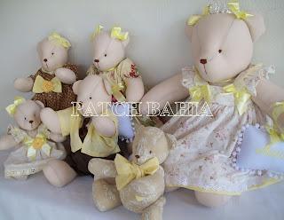 Ursos para decoração de quarto de bebê…mais alguns