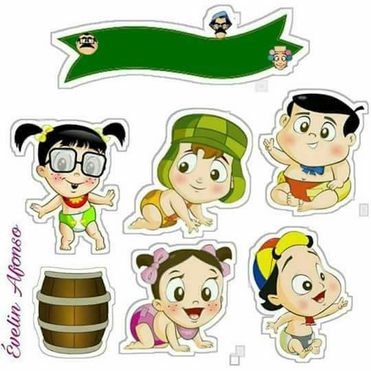 Chavo del 8 Babies: Free Printable Cake Toppers.