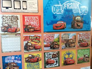 cars 2016 disney pixar calendar