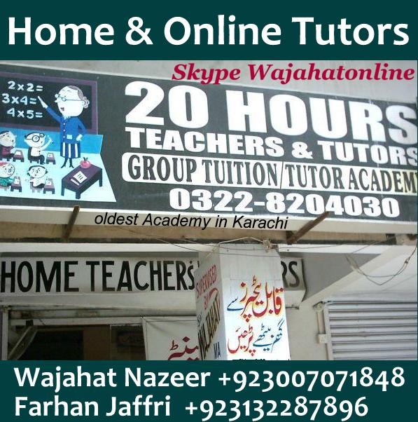 Private home tutors are offering online jobs for teaching in
