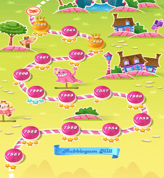 Candy Crush Saga level 7551-7565