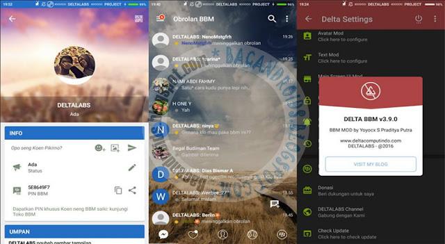BBM Mod Delta Style v3.9.0 Base v3.2.0 Apk terbaru update Clone Uclone