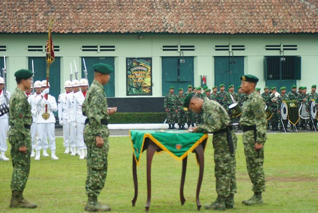 Sertijab Komandan Batalyon Artileri Medan 11 Kostrad di Magelang