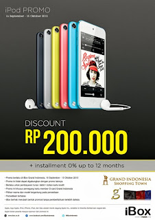 iPod Discount Rp 200.000