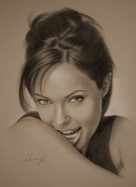 Celebrity Portraits Pencil Drawing