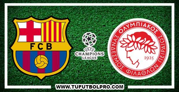 Ver Barcelona vs Olympiacos EN VIVO Por Internet Hoy 18 de Octubre 2017