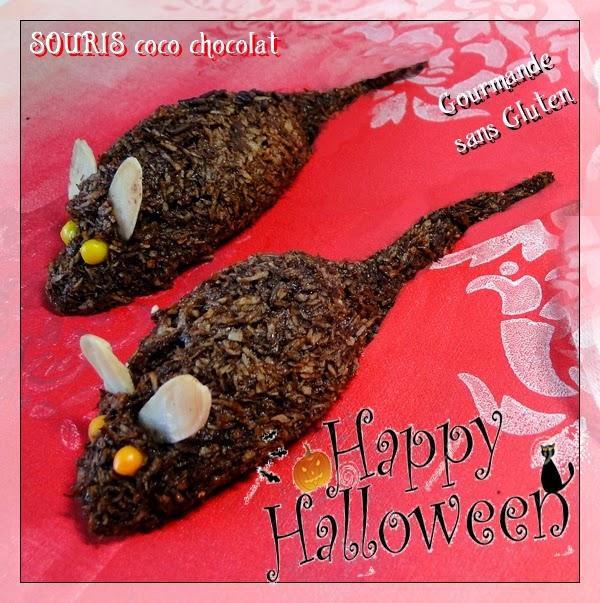Souris coco chocolat d'Halloween
