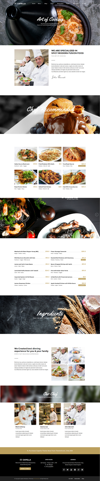 themeforest cafe restaurant template