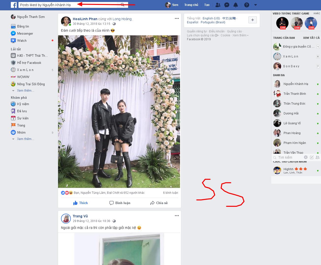 Thủ thuật xem người yêu hay like bài của ai trên facebook