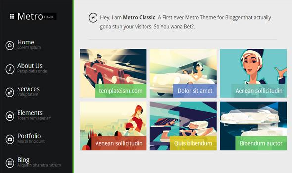 metro classic blogger template world