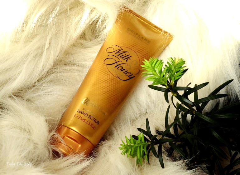 Oriflame Wygładzający scrub do rąk Milk & Honey Gold recenzja