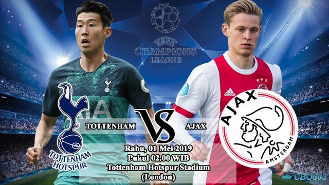 Prediksi Liga Champions Tottenham Hotspur vs Ajax Amsterdam (1 Mei 2019)