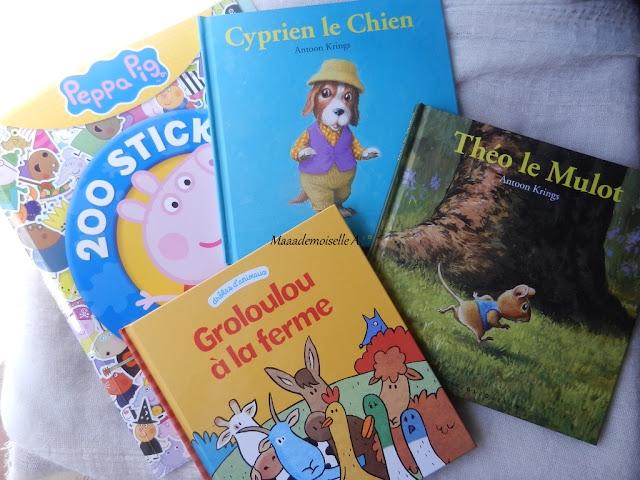 Peppa Pig : 200 stickers et activités - Théo le Mulot - Cyprien le Chien - Groloulou à la ferme