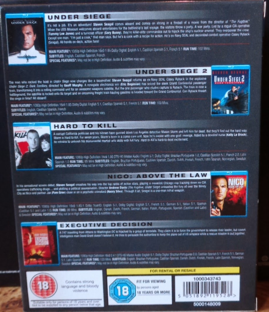 Movies on DVD and Blu-ray: Steven Seagal