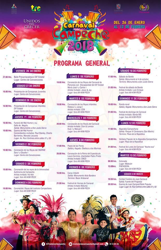 programa carnaval campeche 2018
