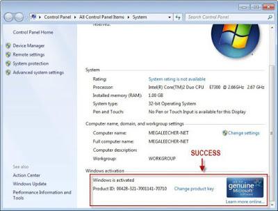 تفعيل Windows 7 مدى الحياة و حل مشكلة الشاشة السوداء