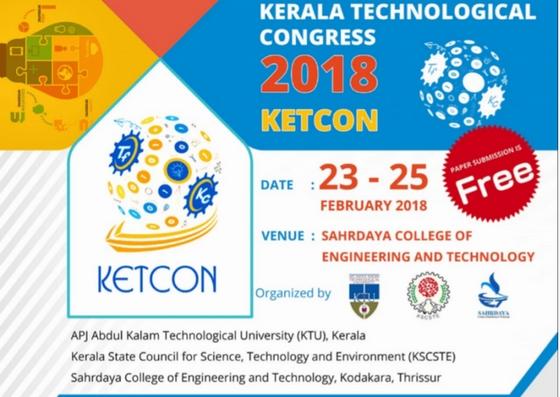 KETCON & TEKON 2018   KSCSTE   @Sahrdaya   KTU Fest