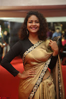 Aditi Myakal look super cute in saree at Mirchi Music Awards South 2017 ~  Exclusive Celebrities Galleries 026.JPG