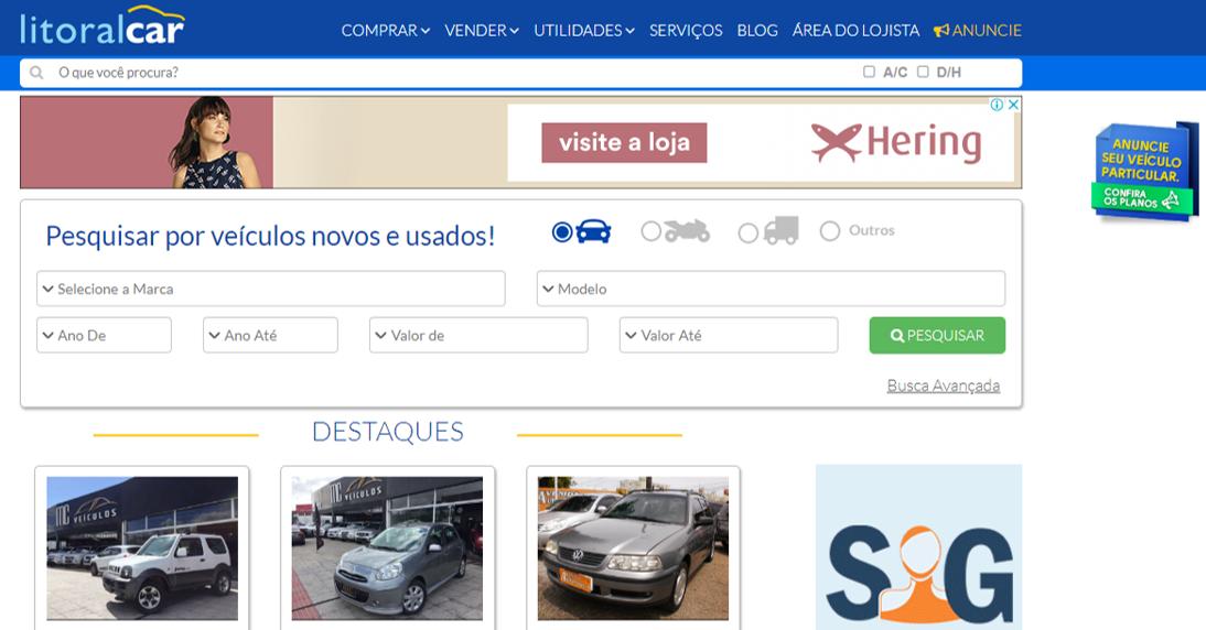 Onde comprar e vender Carros Usados em Santa Catarina