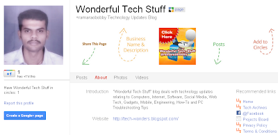 Wonderful Tech Stuff Google+ Page
