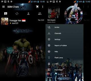 BBM Mod SuperHero Apk 2.10.0.35 + Clone