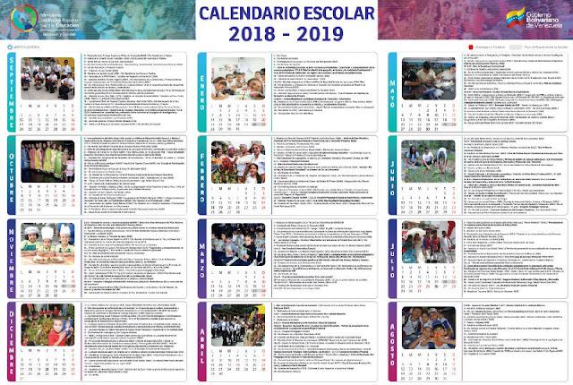 Calendario Escolar 2018- 2019, descárgalo ya en el siguiente link: