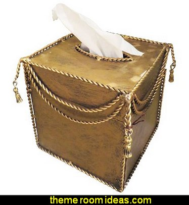 Gold Iron Tissue Box Holder Ornate