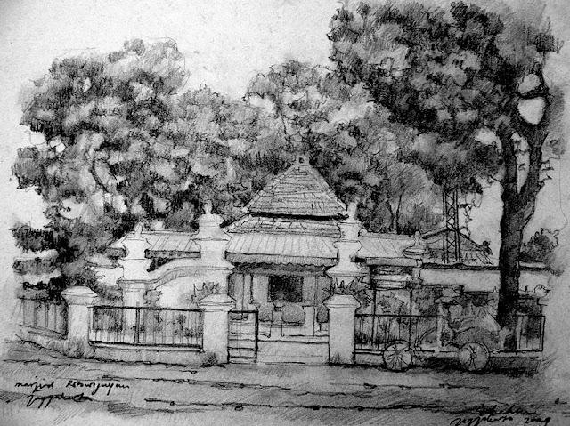 Sketsa Masjid Rotowijayan Jogjakarta