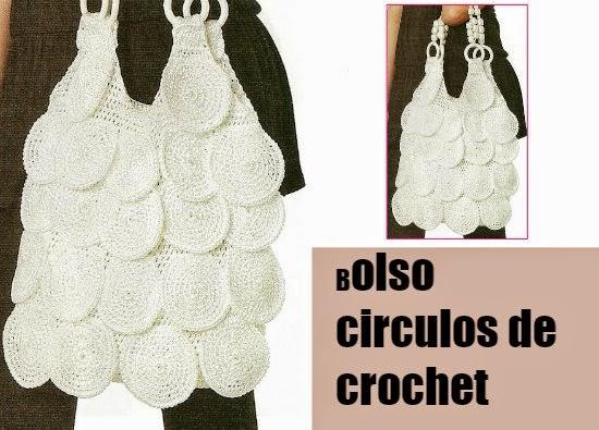 bolsos, circulos,asas, abalorios,anillas,crochet, ganchillo