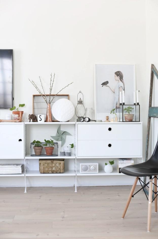 decorar estanterías
