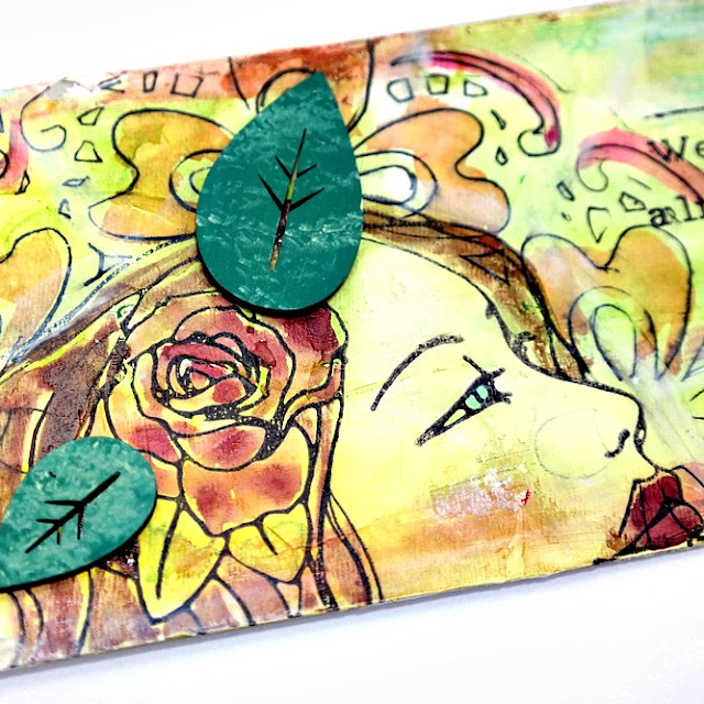 Stamped Watercolor Fragile Tag by Dana Tatar for Tando Creative